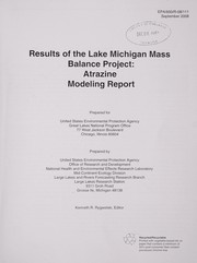 Cover of: Results of the Lake Michigan Mass Balance Project |