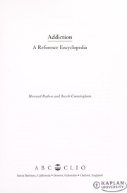 Cover of: Addiction | Howard Padwa