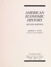Cover of: American economic history | Robert Christian Puth