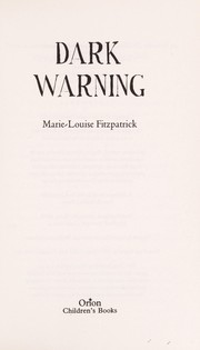 Cover of: Dark warning | Marie-Louise Fitzpatrick