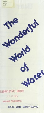 Cover of: The wonderful world of water