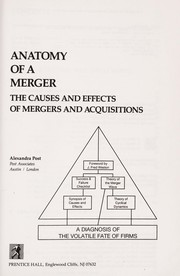 Cover of: Anatomy of a merger | Alexandra Post