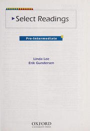 Cover of: Select Readings Pre-Intermediate | Linda Lee, Erik Gundersen, Jean Bernard