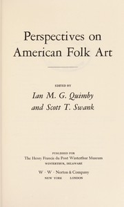 Cover of: Perspectives on American folk art |