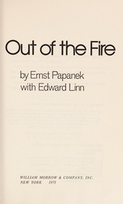Cover of: Out of the fire | Ernst Papanek