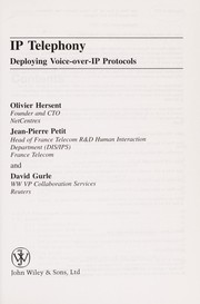 Cover of: Deploying voice-over IP protocols