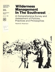 Cover of: Wilderness management in the Southwest | Rachel D. Robertson