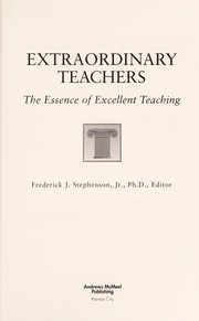 Cover of: Extraordinary teachers |