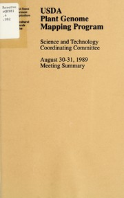 Cover of: USDA Plant Genome Mapping Program | USDA Plant Genome Mapping Program. Science and Technology Coordinating Committee