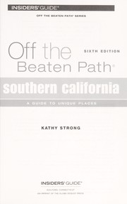 Cover of: Southern California | Kathy Strong