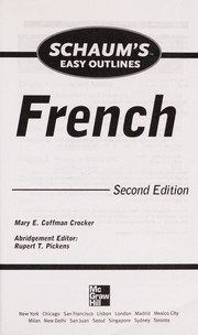 Cover of: Schaum's easy outline of French