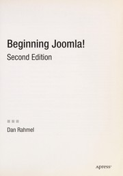 Cover of: Beginning Joomla!: From Novice to Professional (Beginning from Novice to Professional)