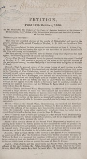 Cover of: Speech of William L. Hirst, esq., in the matter of the contested election of Horn R. Kneass, esq., as district attorney of the county of Philadelphia