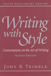 Cover of: Writing with style | John R. Trimble