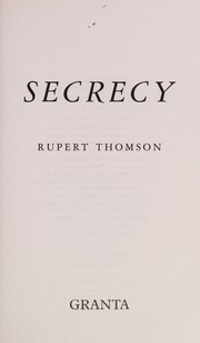 Cover of: Secrecy