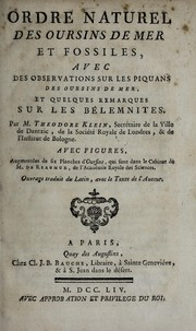Cover of: Ordre naturel des oursins de mer et fossiles