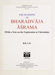 Cover of: Excavations at Bharadvaja Asrama |
