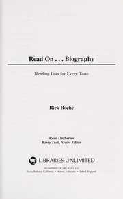Cover of: Read on-- biography | Rick Roche