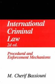 Cover of: International Criminal Law, Vol. 2: Procedures