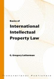 Cover of: Basics of international intellectual property law