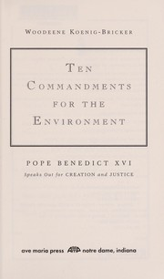 Cover of: Ten commandments for the environment | Pope Benedict XVI