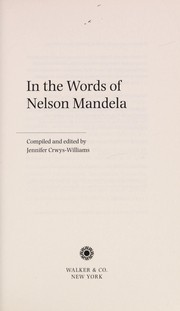 Cover of: In the words of Nelson Mandela