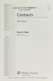 Cover of: Contracts | Brian A. Blum