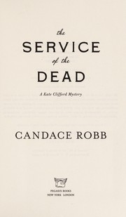 Cover of: The service of the dead
