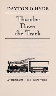 Cover of: Thunder down the track