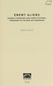 Cover of: Enemy aliens | Cole, David