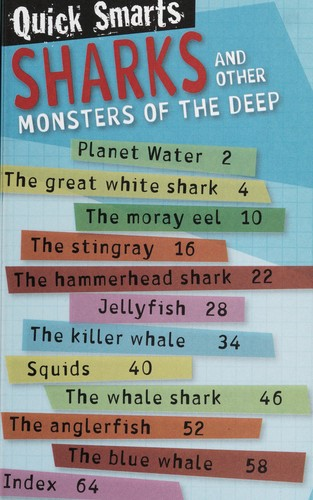 Sharks and other monsters of the deep by Nick Page