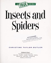 Cover of: Insects and spiders | Christine Taylor-Butler