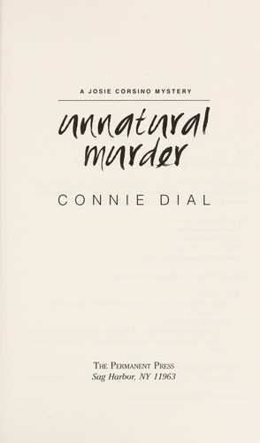 Unnatural murder by Connie Dial