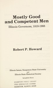 Cover of: Mostly Good and Competent Men | Robert P. Howard