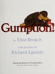 Cover of: Gumption! | Elise Broach