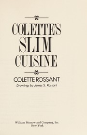 Cover of: Colette's Slim cuisine | Colette Rossant