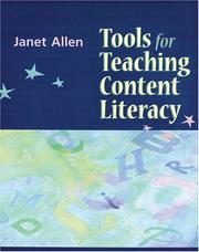 Cover of: Tools for Teaching Content Literacy | Janet Allen