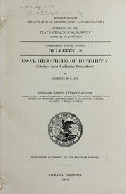 Cover of: Coal resources of district V