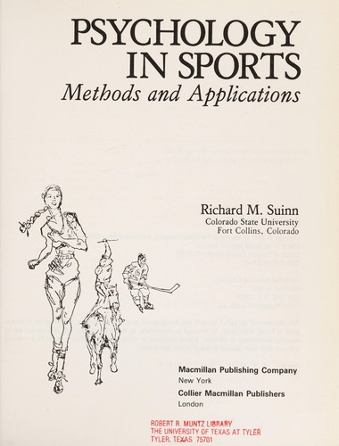 Psychology Sport Methods Appli by Suinn