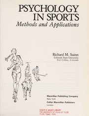 Cover of: Psychology Sport Methods Appli | Suinn