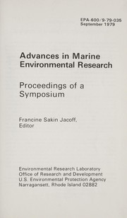 Cover of: Advances in marine environmental research |