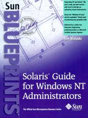 Cover of: Solaris guide for Windows NT administrators