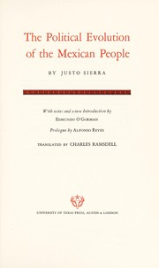 Cover of: The political evolution of the Mexican people. | Sierra, Justo