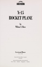 Cover of: X-15 rocket plane