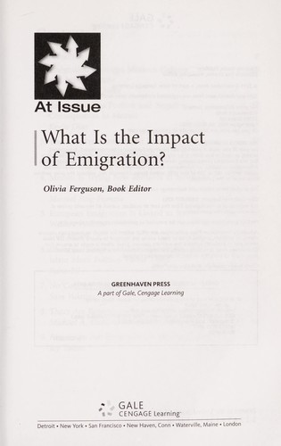 What is the impact of emigration? by Olivia Ferguson