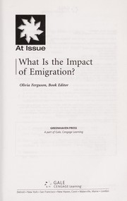 Cover of: What is the impact of emigration? | Olivia Ferguson