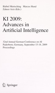 Cover of: KI 2009: Advances in Artificial Intelligence | Bärbel Mertsching
