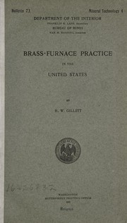 Cover of: Brass-furnace practice in the United States