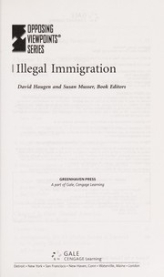 Cover of: Illegal immigration