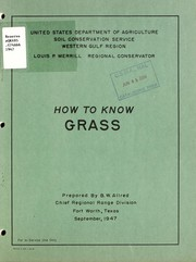 Cover of: How to know grass
